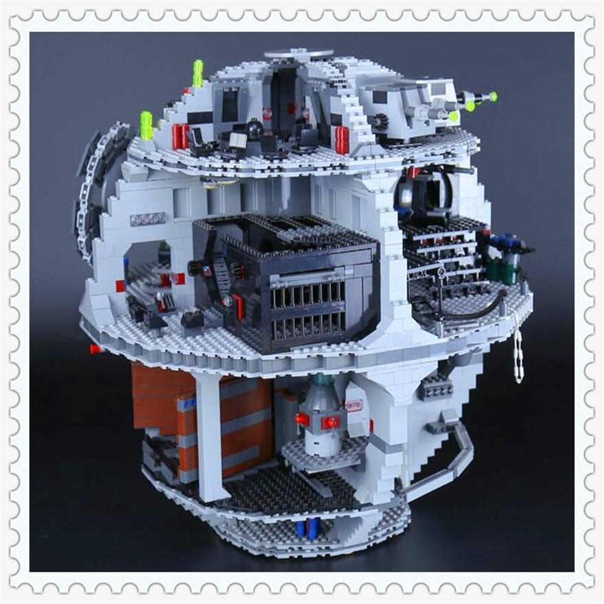 3803Pcs Star Wars Death Star II Model Building Block Toys Enlighten 05035 Gift For Children Compatible Legoe 10188 decool 3114 city creator 3in1 vehicle transporter building block 264pcs diy educational toys for children compatible legoe