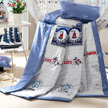 High quality Cool thin Summer quilt Comfortable filling Can Machine washable 100% cotton fabric Home textiles Adult Child Bed