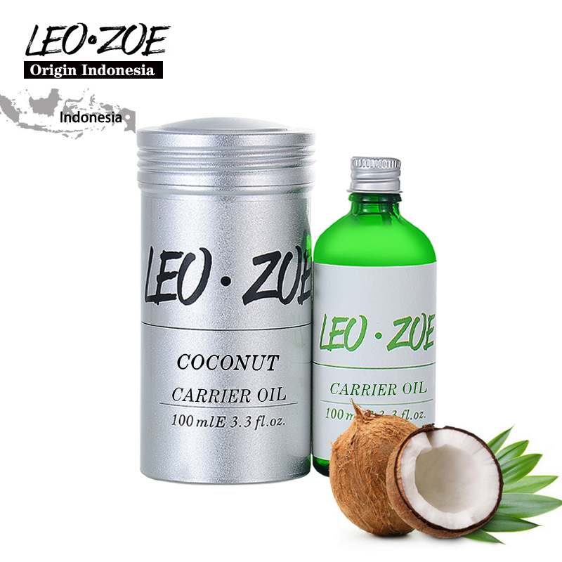 LEOZOE Pure Coconut Oil Certificate Origin Indonesia Authentication Coconut Essential Oil 100ML Huile Essentielle Oils ogx nourishing coconut oil weightless hydrating oil mist