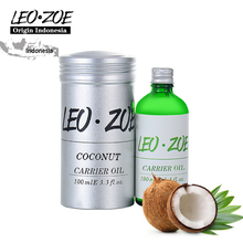 LEOZOE Pure Coconut Oil Certificate Origin Indonesia Authentication Coconut Essential Oil 100ML Huile Essentielle Oils