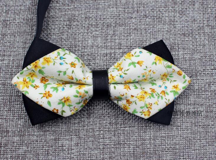 Новейшие Модные Для мужчин с бантом Галстуки Для Свадьба Вечерние кешью галстук-бабочка с цветочным узором сад стиль Мужские галстуки Бизнес Галстуки для Для мужчин подарки - Цвет: as picture