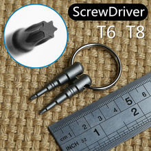 T6 and T8 screwdriver set 3.5cm overall length Mini precision screwdrivers MOLLETTA original design