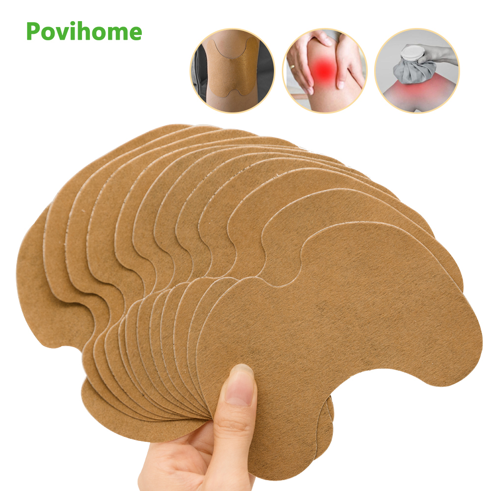 12pcs Knee Medical Plaster Wormwood Extract Knee Joint Ache Sticker Knee Rheumatoid Arthritis Body Pain Relieving Patch D1953