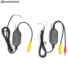 ANSHILONG 2 4G Wireless Video Cable Transmitter and Receiver for Car Video Monitor Rear View Backup