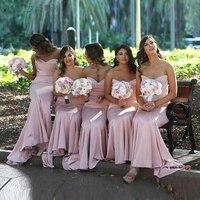 2019 простое милое длинное свадебное платье для гостей, вечерние платья, розовое платье подружки невесты, дешево