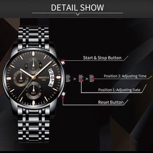 Image 3 - NIBOSI montre de Sport pour hommes, de marque de luxe, à Quartz, à Date automatique, étanche, bleu
