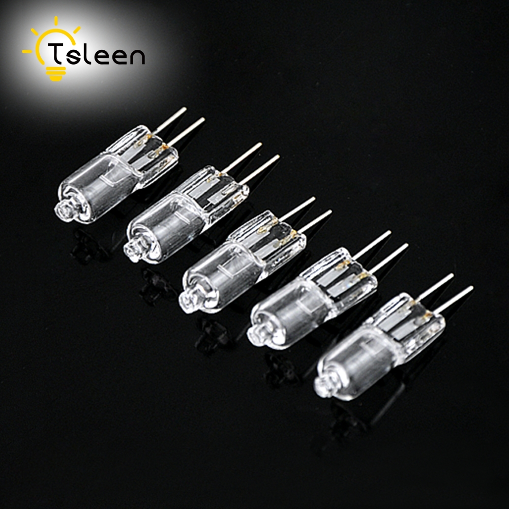 TSLEEN 40Pcs Bright Light 12V Halogen Lamp Bulb G4 20w Low-pressure Light Crystal Lamp Pins Small Halogen Bulb Warm White