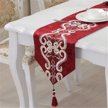 SBB Newest European classical style Jubilation noble simple Embroider plush table runner dining room flag Matching Cushion