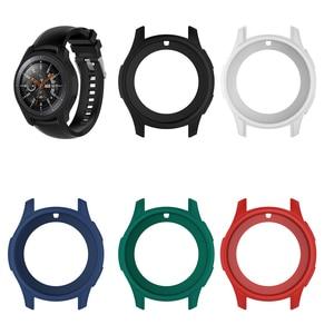 Image 1 - Funda protectora de silicona 5 colores para Samsung Gear S3 Frontier Protector de pantalla estuche para reloj inteligente para Galaxy Watch 46MM