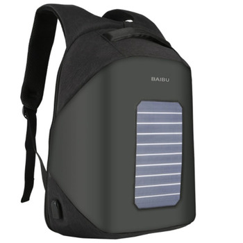 BAIBU Solar Charging Men Backpack USB Charge 15.6 inch Notebook Computer Bag Anti Theft Travel Bag Waterproof Men School Bags 1