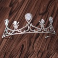 Nueva Llegada Magnífico Noble Circón corona Tiaras Moda Noble azorite las vendas de la Boda accesorios para el Cabello Diadema de princesa