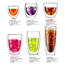 Двойная Стенка Insluated стеклянная чашка питьевой Чай Кофе Латте сок товары для дома, кухни Hogard
