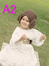 Princess Leia Style Crocheted Baby Hat From Star Wars For Girl Newborn Costume With Big Flower  sc 1 st  AliExpress.com & Buy baby princess leia and get free shipping on AliExpress.com