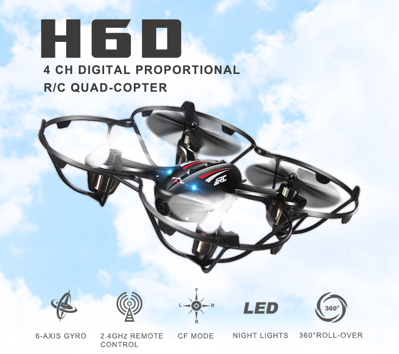 цены Quadcopters H6D FPV Mini Drones With Camera Hd With Camera Flying Helicopter Camera Professional Drones JJRC Rc Toys Dron Copter