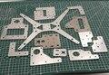 1 шт. Тарантул/HE3D алюминиевая пластина обновленный комплект для 3D тарантула 3d принтер tevo Тарантул алюминиевые части линейной рельсы
