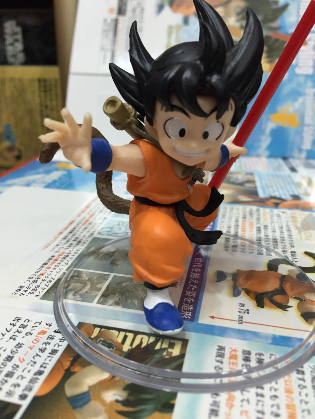 Baby Son Goku Dragon Ball Saiyan Kakarotto Cute Action Figure DIY Animation Doll Kids Toy Miniature Model For Car Decoration new hot 21cm dragon ball super saiyan 3 son goku kakarotto action figure toys doll collection christmas gift with box sy889