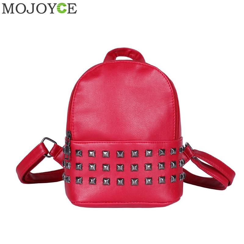Small Women Backpacks Rivet Zipper Pu Leather Student Backpack Women PU Leather Casual Girls Shoulder Schoolbags BackpackSmall Women Backpacks Rivet Zipper Pu Leather Student Backpack Women PU Leather Casual Girls Shoulder Schoolbags Backpack