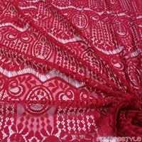 1 Yard Brocade Cotton Lace Fabric New Eyelash Tassel Sweet Knitted Dress Fabric Fashion Show Special