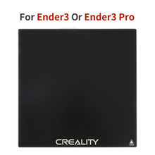Ender-3/ender-3pro/CR-10s/CR-10 Горячая панель стеклянная панель для нагрева кровати 3D платформа для печати кровать с подогревом сборная поверхность стеклянная пластина 235x235x3 м