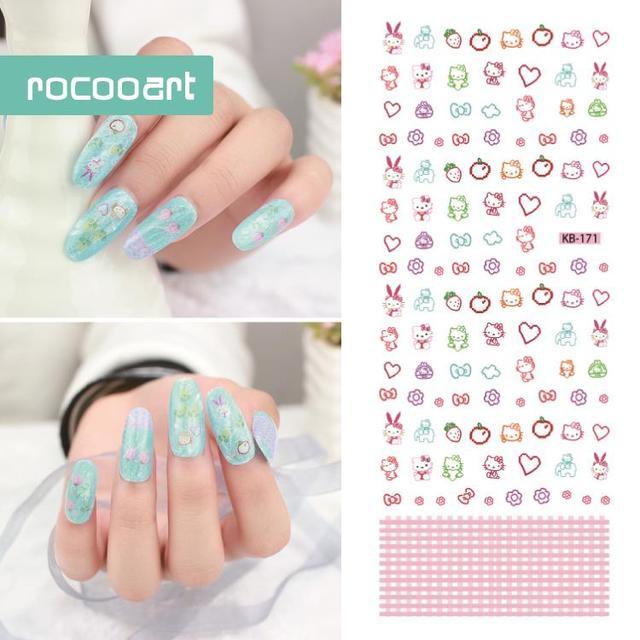Kb 1712017 Latest Brand Nail Design Nails Art Sticker Cartoon Pet
