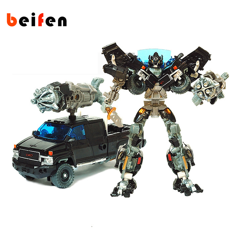 Bei Fen Transformation Automobile Robot Collector's Edition Tin Action Figures Plastic Toys 18cm High Technological Film child viruses cell transformation and cancer 5