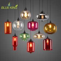 14 tipos de multi color decoração Arte moderna luminária de vidro droplight Nordic simples Moderno Do Vintage colorido vidro pingente lam