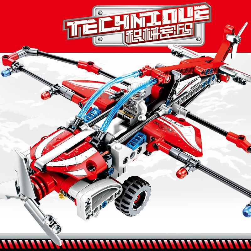 223Pcs FLIGHT TRANSPORT Plane Glider Pullback Aircraft Model RC Technic Bricks Educational Toys for Children in Blocks from Toys Hobbies