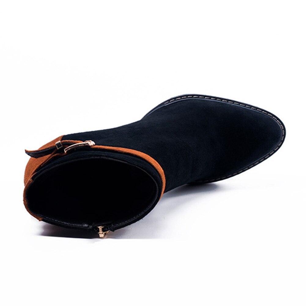 Up Cheville 41 Noir Zip Petit Femme Bottes Chaussures Talons Botte Mode Cuir Haute Grande Marque Partie En 34 Nouveau Doratasia Taille Daim UgTqznw