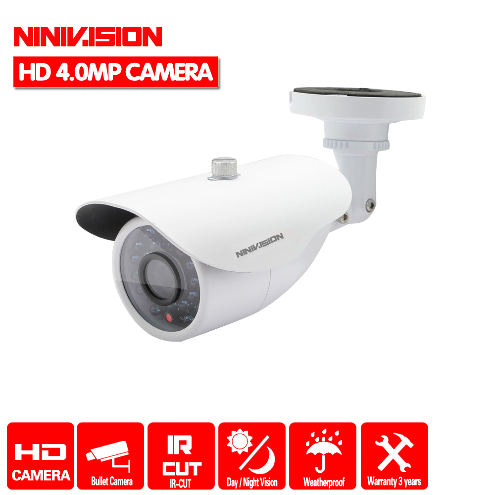 NINIVISION Hot HD 4MP IMX322 AHD-4MP System CCTV AHD Camera Outdoor Waterproof Small Metal Bullet IR 4MP Security Surveillance 2017 newest security ahd 1080p 2 0mp waterproof ir metal cctv bullet camera system cheap product