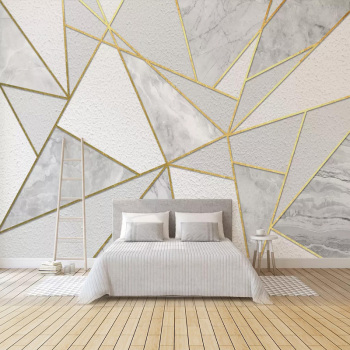 Modern Simple 3D Geometric Marble Wallpaper Golden Line Photo Wall Murals Living Room Bedroom Background Wall Painting 3D Fresco 3d wallpaper customized 3d floor painting wallpaper murals 3 d floor tile in a burning flame wall 3d living room photo wallpaer