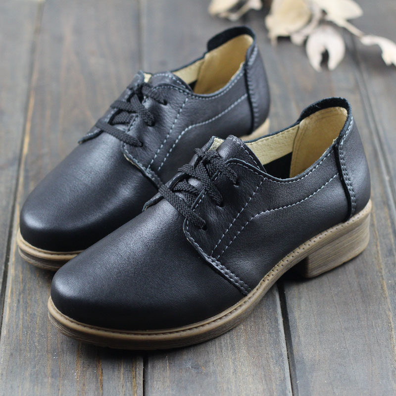 Women Shoes Genuine Leather Women Oxford Shoes Round toe lace up Ladies Flat Shoes Female Spring Footwear (1231-1) 2018 new canvas shoes spring summer women shoes genuine leather canvas shoes female round toe flat shoes lace up female canvas s