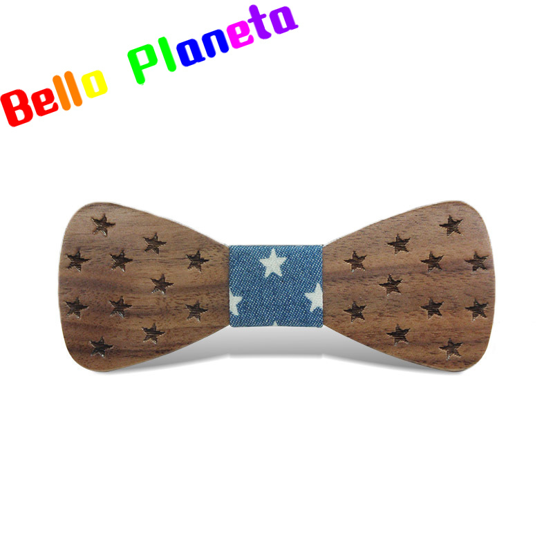 New Trend Children's Accessories Solid Wood Bow Wooden Bow Tie Fashion Casual Baby Green Collar Bow Shirt Gravata Camisa Shirts
