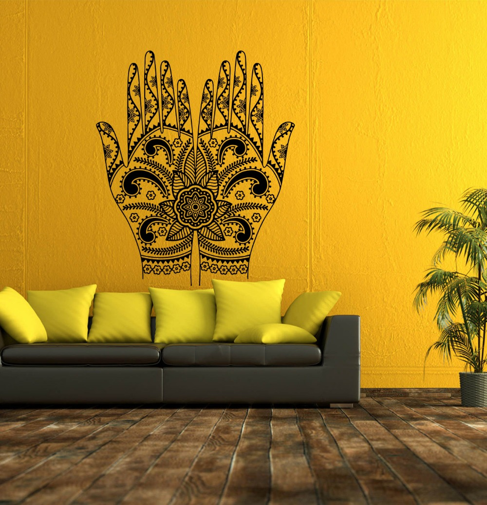 Hand Of Boddha Silhouette Tribal Wall Decals Home Livingroom Art ...