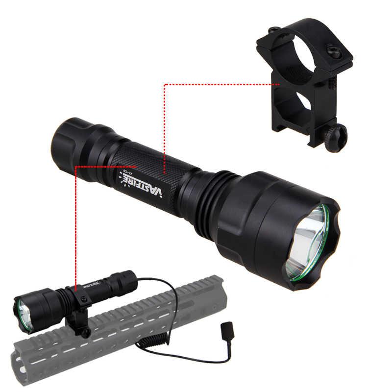 4000 LMs Q5 Led verde linterna táctica de caza reflector 4 caza + 18650 batería + cargador + montaje de pistola + interruptor remoto de presión