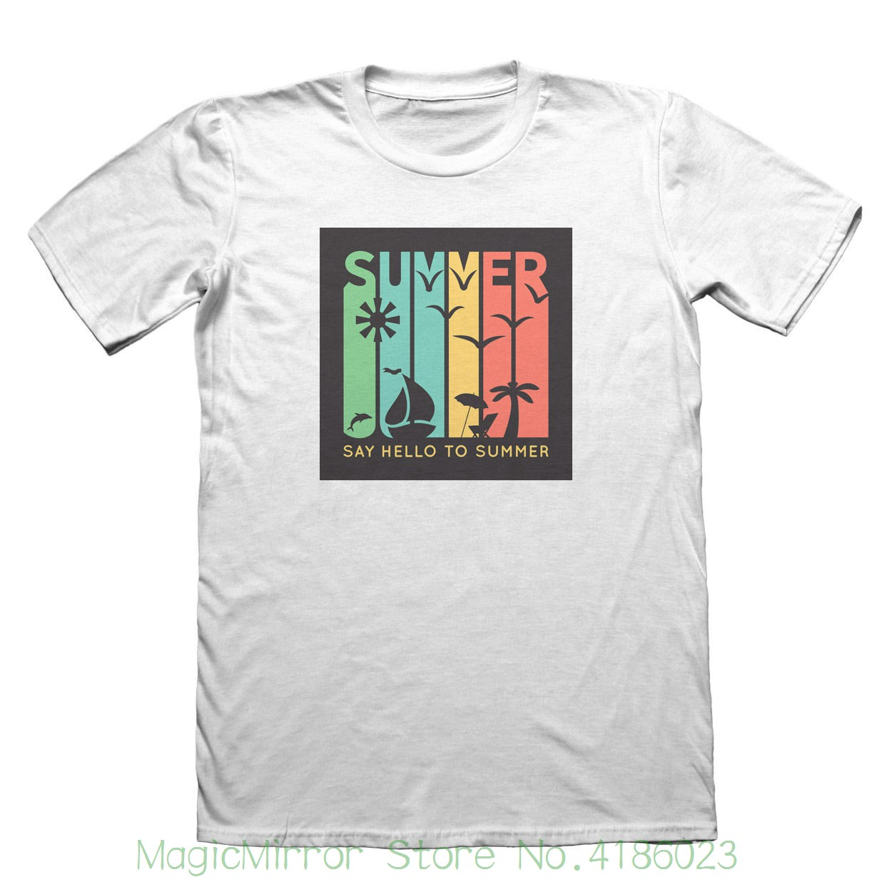 Say Hello To Summer T-shirt - Mens Fathers Day Christmas Gift #7548 100% Cotton Brand New T-shirts