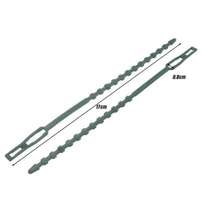 Cravate plastique de jardin réutilisable 50 pièces | Attaches de câble darbre, Support descalade, Pot de plante de jardin, marqueur de plante de fleur, cravate pour outils de jardin