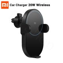 En Stock Xiaomi chargeur de voiture sans fil 20W Max électrique Auto pincement 2.5D anneau de verre Lit pour Mi9 20W chargeur rapide intelligent