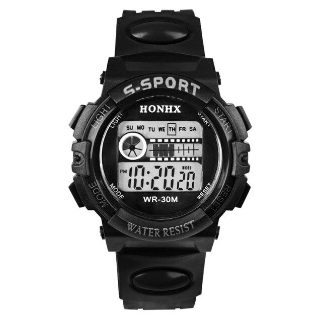 Новые поступления Best подарок для детей Водонепроницаемый Часы мальчика цифровой светодиодный кварц сигнализации Дата спортивные наручные часы may26