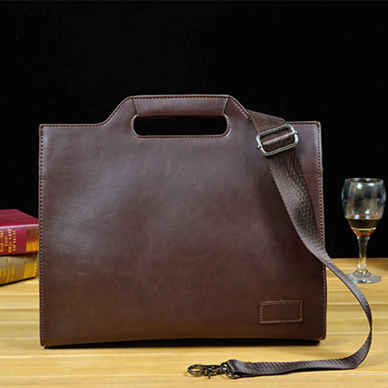 2019 Vintage Men's Briefcase Business Office Bags Crazy horse Leather Handbag NEW computer laptop Bag Casual Crossbody bags