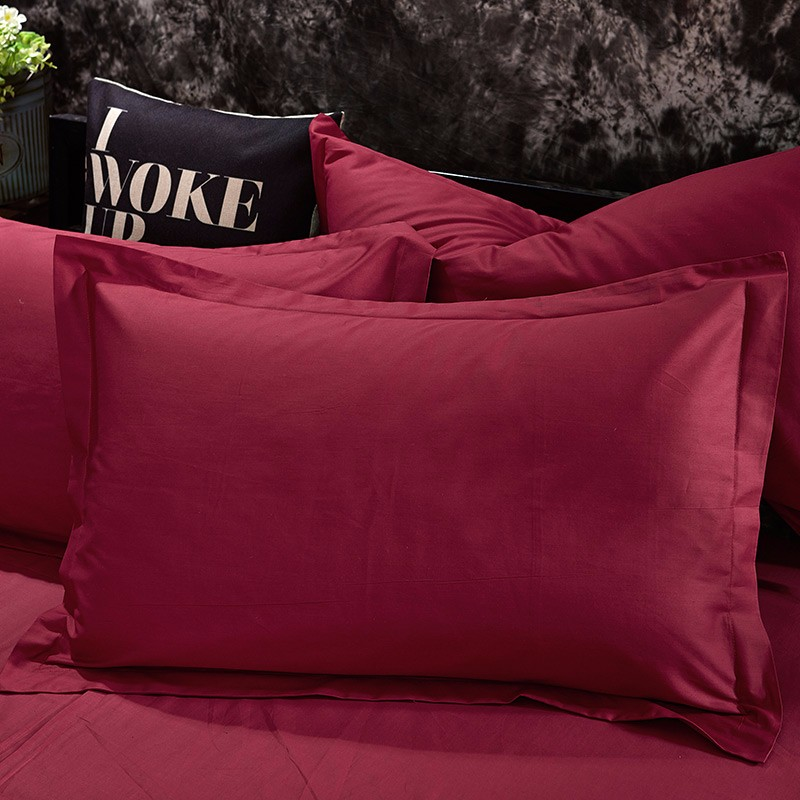100% Cotton Black Red Color King, Queen, Twin, Size Bedding Set, Solid Color Duvet Cover Set, Bed sheet /Fitted Sheet, Pillowcases 19
