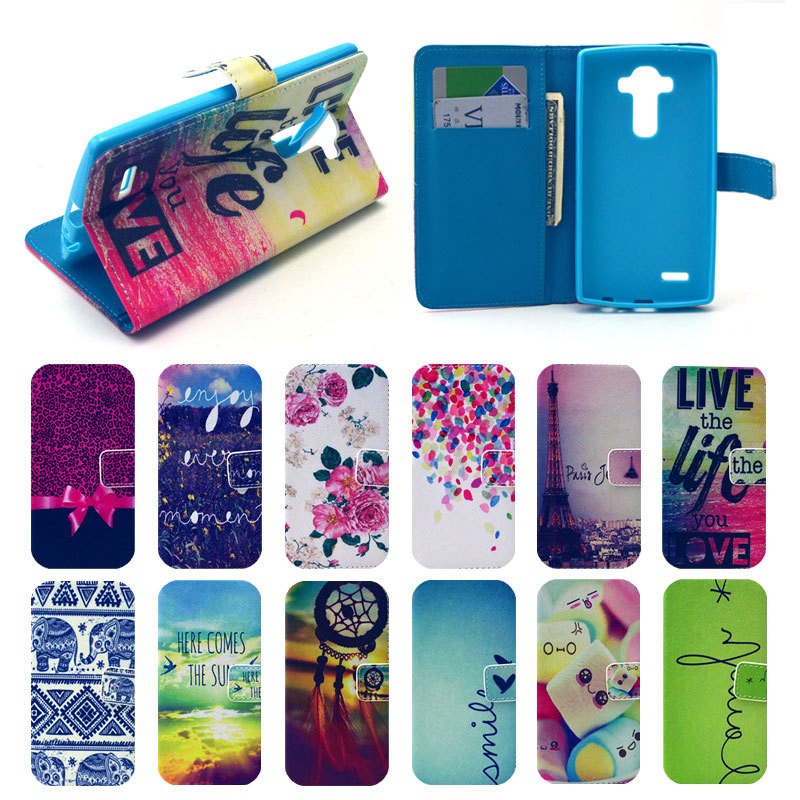 huge discount 27a31 bd7e4 Phone Cases For LG G4 Case Top Quality Luxury Flip PU Leather Case ...