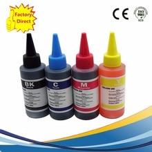 цена на 4 Color Dye Ink For HP 100ML Specialized Refill Ink Kit Bottle Bulk Universal INK Refillable Ink Cartridge Ciss Inkjet Printer