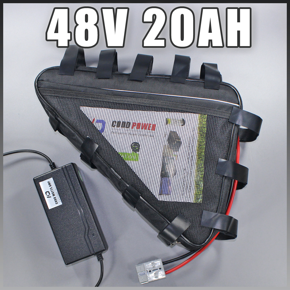 48v triangle battery pack 20ah electric bike battery Samsung lithium ion battery 48v 1000w ebike battery Free customs duty free customs duty hot selling down tube ebike battery 36v 13ah samsung lg lithiu ion battery pack