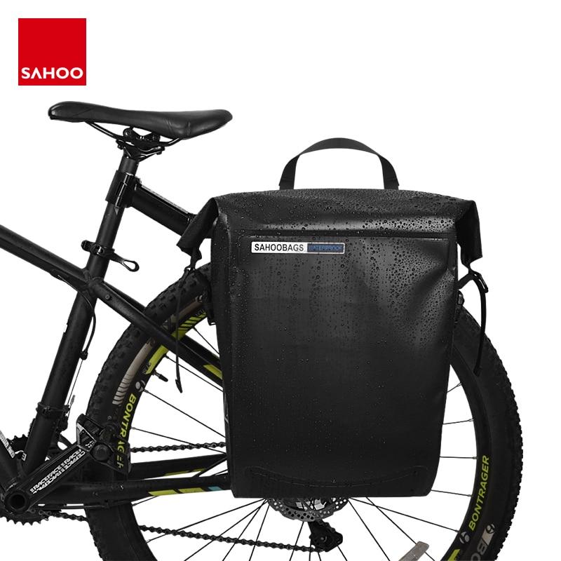 Excellent Sahoo 141364-SA 20L Full Waterproof Dry Mountain Road Bike Bicycle Cycling Pannier Bag Back Rear Seat Trunk Bag Rack Pack 0