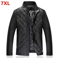 Big Size Winter Thicker PU Leather Men Plus Size Code Daddy Loaded Big Men People Bright