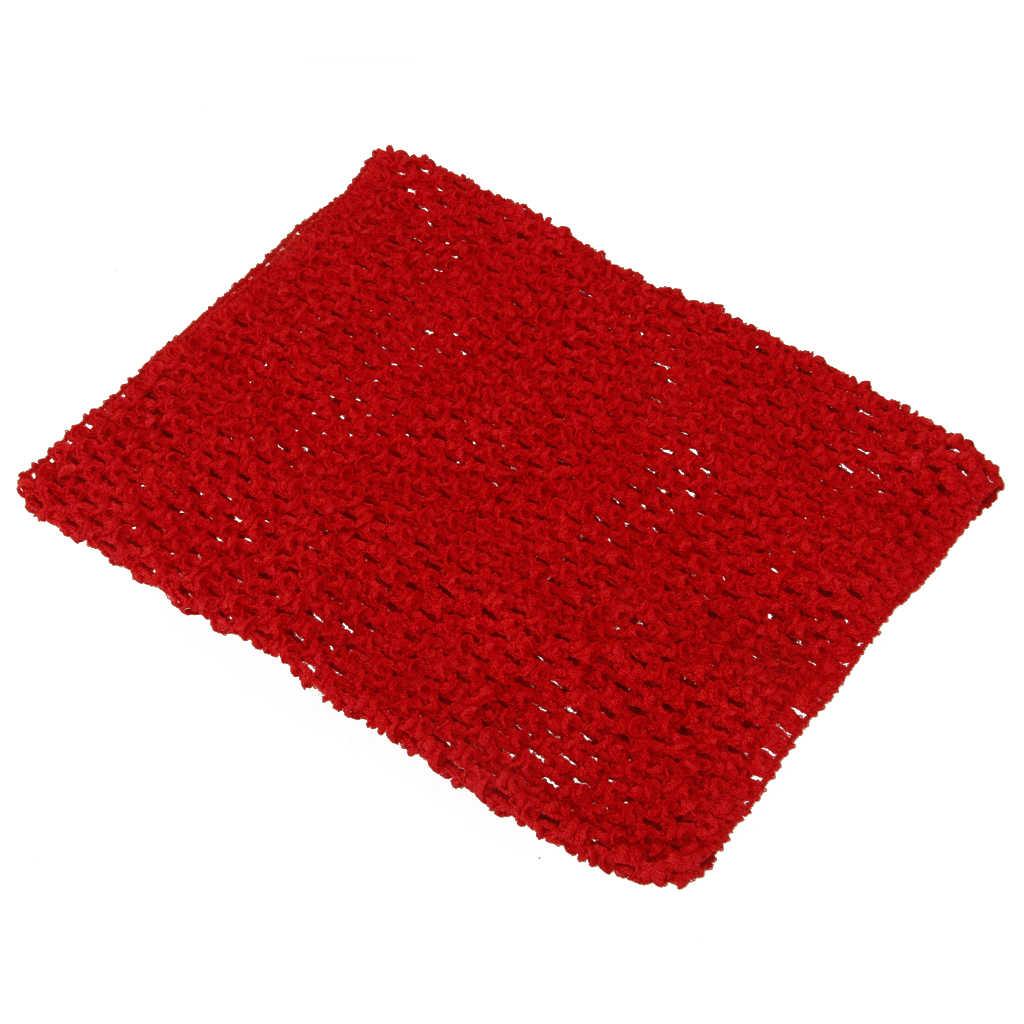 9 дюймов полиэстер вязаный крючком Топ эластичный пояс повязка на голову для детей девочек юбка-пачка 3 цвета производство одежды аксессуар