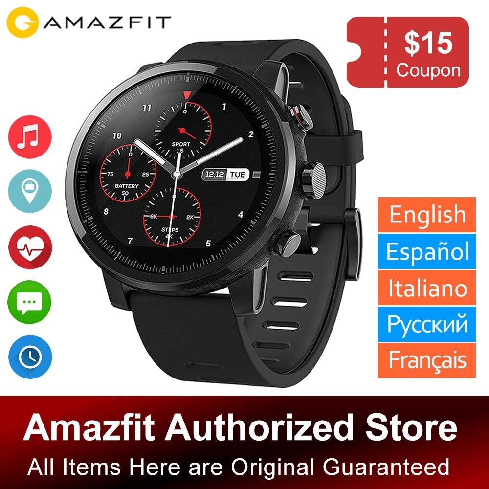 Montre intelligente Multisport Xiaomi Huami Amazfit Stratos/PACE 2 avec VO2max, fréquence cardiaque et suivi d'activité