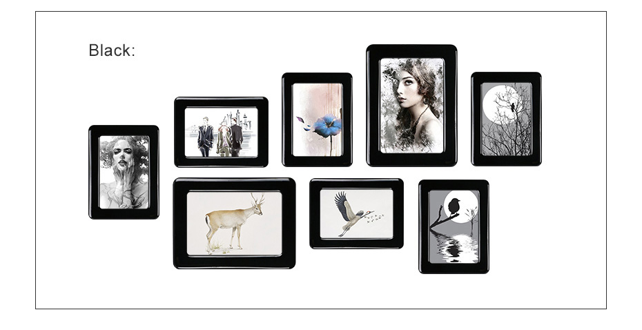 930 Magnetic Photo Frame With Adhesive Crystal Surface Kids Room Wall Decor Magnet Picture Frame_11