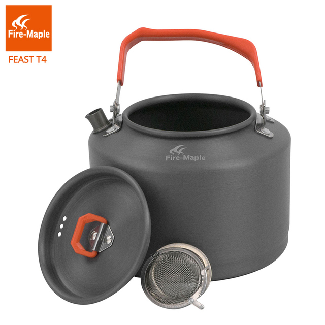 Fire Maple Outdoor Camping Kettle Coffee Tea Pot Camping Toolswith Heat Proof Handle and Tea-strainer 1.5L FMC-T4
