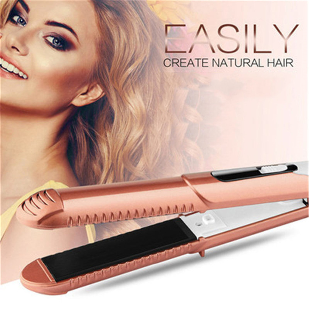 2 In 1 Corrugated Electric Curling Hair Straightener Crimper Fluffy Waves Curling Irons Styling Tools Hair Curlers2 In 1 Corrugated Electric Curling Hair Straightener Crimper Fluffy Waves Curling Irons Styling Tools Hair Curlers
